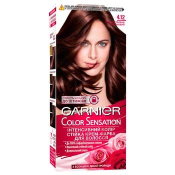 Крем-краска Garnier Color Sensation 4.12 Перламутровый каштан - купить, цены на СитиМаркет - фото 3