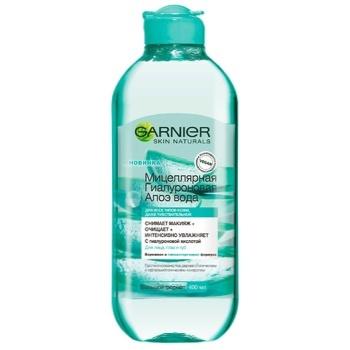 Мицеллярная вода Garnier Skin Naturals гиалуроновая с алоэ вера 400мл