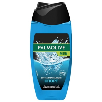 Palmolive Men Sport Regenerating Men's 3in1 Shampoo-gel for Body, Face and Hair 250ml - buy, prices for CityMarket - photo 1
