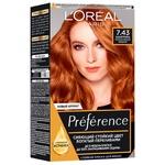 Краска для волос L'Oreal Paris Preference 7.43 Шангрила Интенсивный медный