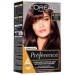 Фарба для волосся L'Oreal Paris Recital Preference 4.01 Париж Глибокий каштан