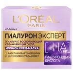Крем L'Oreal Paris Ночная крем-маска для кожи лица гиалуроновая кислота