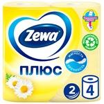 Туалетний папір Zewa Плюс з ароматом ромашки 2-х шаровий 4шт