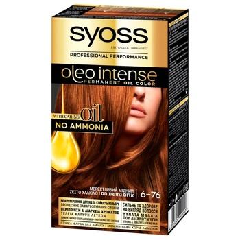 SYOSS Oleo Intense 6-76 Shimmering Copper Ammonia Free Hair Dye 115ml - buy, prices for CityMarket - photo 1