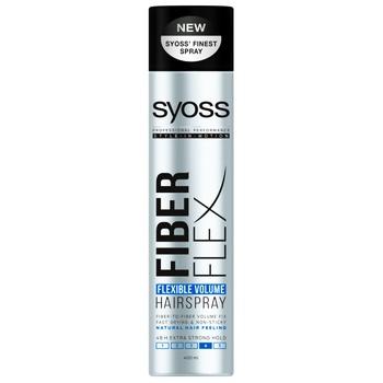 Лак для волос SYOSS Fiber Flex Flexible Volume Экстрасильная фиксация 4 400мл