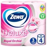 Туалетная бумага Zewa Deluxe Royal Orchid розовая трехслойная 4шт