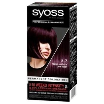 Краска SYOSS 3-3 Темно-фиолетовый для волос 115мл