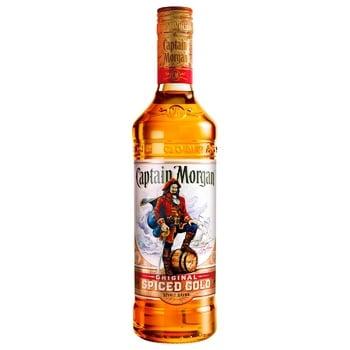 Напій алкогольний Captain Morgan Spiced Gold на основі Карибського рому 35% 1л - купити, ціни на Novus - фото 1