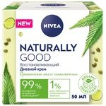 Крем Nivea Naturally Good Восстанавливающий дневной с органическим маслом конопли для нормальной кожи 50мл