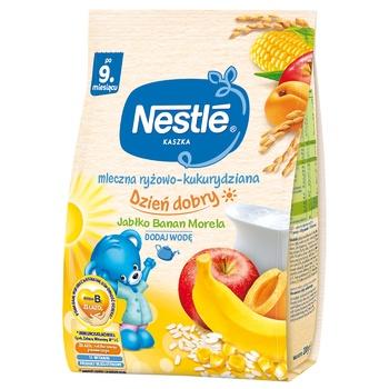Молочна каша Nestle Рис кукурудза з яблуком бананом i абрикосом 230г - купити, ціни на Novus - фото 1
