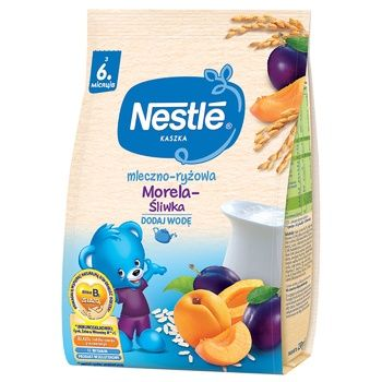 Nestle for children from 6 months with plum and apricot milk rice pap 230g - buy, prices for Vostorg - photo 1