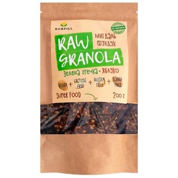 Sunfill Raw Granola Almond Hazelnuts Granola 200g - buy, prices for CityMarket - photo 1