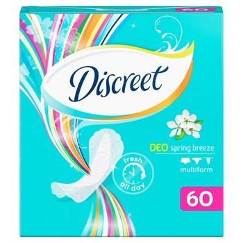Discreet Spring Breeze Deo Daily Pads 60pcs - buy, prices for CityMarket - photo 5