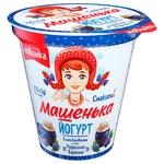 Йогурт Ромол Машенька чорничне варення 5% 270г