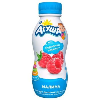 Agusha Raspberry Flavored Drinking Yogurt 2,7% 200g