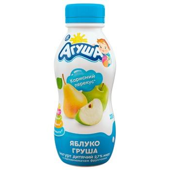 Agusha Apple-Pear Yogurt 2,7% 200g