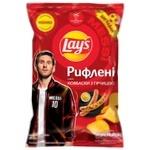 Чіпси Lay's зі смаком ковбасок с горчицей 120г