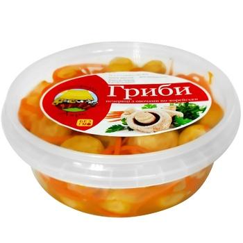 Грибы с овощами по-корейски 300г