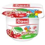 Йогурт Фанни Вишня 1,5% 115г