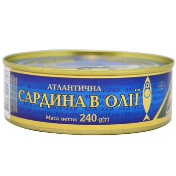 Riga Gold Atlantic Sardine in Oil 240g