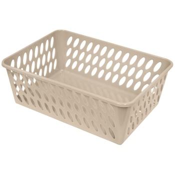 Plastic Basket 260x370x130mm beige