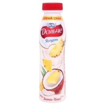 Йогурт Дольче Ананас и кокос 2,5% 290г - купить, цены на СитиМаркет - фото 1