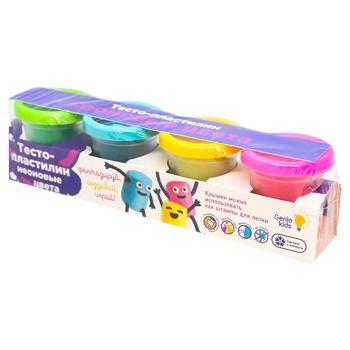 Набор для детской лепки Тесто-пластилин неоновые цвета