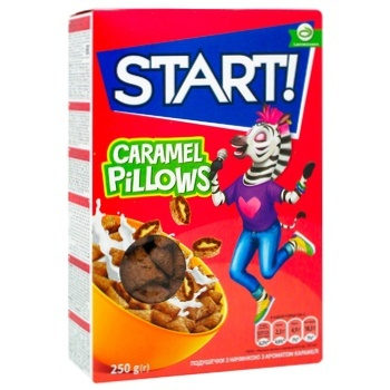 Start! With Caramel Filling Pillows Dry Breakfast 250g - buy, prices for CityMarket - photo 1