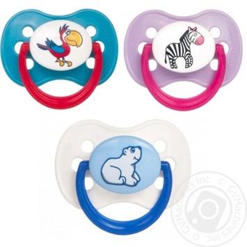 Пустушка Canpol babies Animals латексна кругла 6-18міс. в асортименті - купити, ціни на МегаМаркет - фото 2