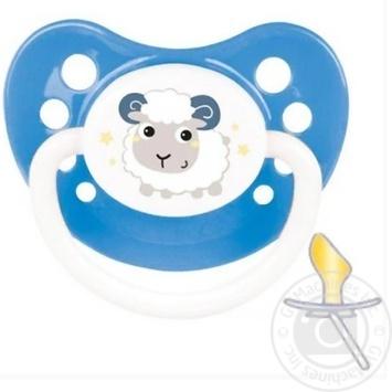 Пустышка Canpol babies Bunny&Company латексная анатомическая 6-18мес. в ассортименте - купить, цены на УльтраМаркет - фото 1