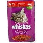 Food Whiskas with beef canned for pets 100g soft packing Russia