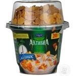 БіфідоЙогурт Активія Сніданок з пластівцями натуральний 200г