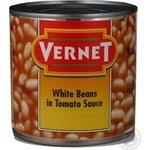 Vegetables kidney bean Vernet white in tomato sauce 430g can Hungary