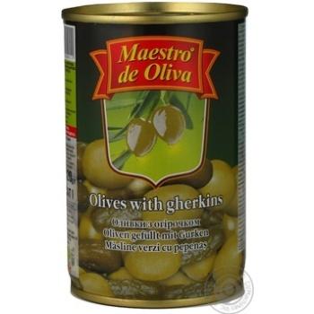 Оливки Maestro de Ol.фаршировані Огірок 300мл - купити, ціни на Novus - фото 6