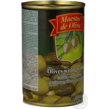 Оливки Maestro de Ol.фаршировані Огірок 300мл - купити, ціни на Novus - фото 2