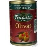 olive Fragata pepper green stuffed 300g can Spain