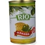 Оливки зелені Rio фаршировані Сир залізна банка 300мл
