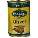 Оливки зелені Fragata Мансанільо фаршировані Лимон 300мл