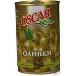 olive Oscar with capers green stuffed 300g can Spain