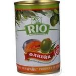 Оливки зелені Rio фаршировані Лосось залізна банка 300мл