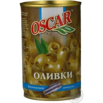 Оливки Oscar фаршировані Анчоус 300мл