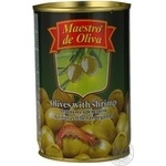 Maestro de Oliva Green Olives with shrimp 300ml