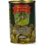 Maestro de Oliva green stuffed salmon olive 300g
