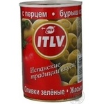olive Itlv pepper green stuffed 314ml can Italy