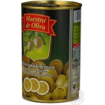 Оливки зелені Maestro de Oliva з лимоном 300мл - купити, ціни на МегаМаркет - фото 7