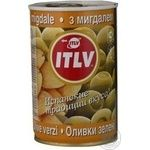 olive Itlv with almonds green stuffed 314ml can Italy