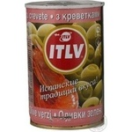 olive Itlv shrimp green stuffed 314ml can Spain