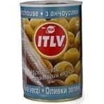 Оливки ITLV зеленые с анчоусом 314м