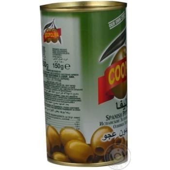 Оливки Коополіва зелені без кісточки 370мл Іспанія - купити, ціни на Novus - фото 3