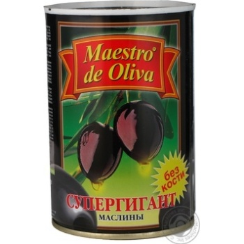 olive Maestro de oliva black pitted 425g can